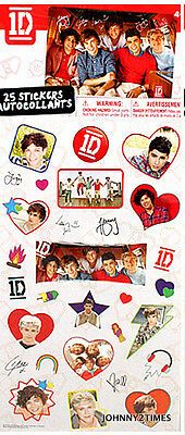 BRAND NEW Sealed One Direction 25 Stickers Autocollants Authentic