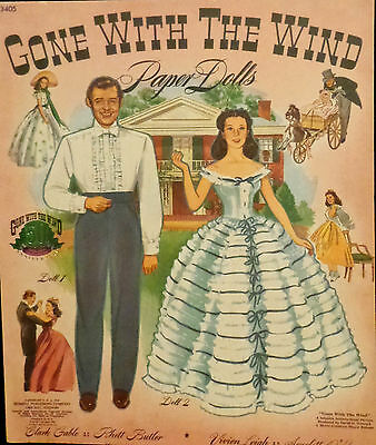 Gone with the Wind Uncut Paper Dolls Reproduction from 1989 Limited Printings