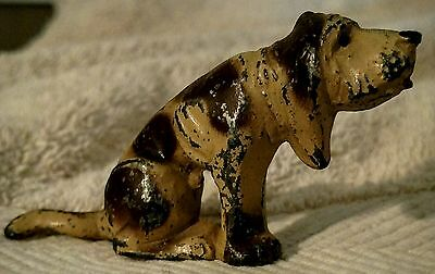 Vintage Painted Hollow Iron Hound Dog