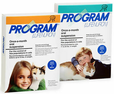 Program dog and cat flea treatment tablets/suspension 6 months treatment