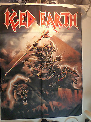 ICED EARTH  Unused TEXTILE FLAG POSTER   heavy metal power helloween lp t shirt