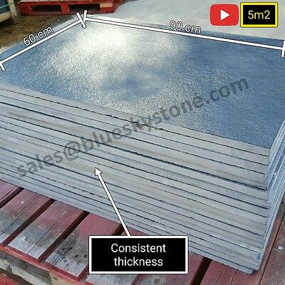 Black Limestone Slate Paving Slabs Garden Patio Slabs 5m2 90x60cm - FREE SAMPLE