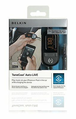 Belkin In Car Tunecast Auto Live FM Transmitter Charge and Play for iPhone 4/4s