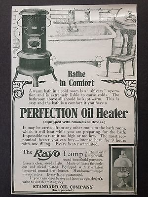 Vintage 1907 Ad (E22)~Perfection Oil Heater And Rayo Lamp
