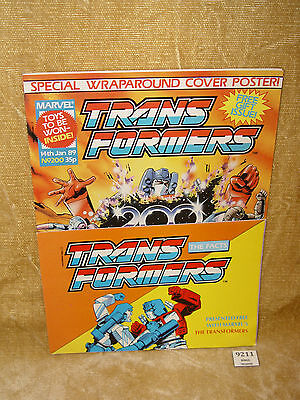 Uk Transformers #200 Comic W/ The Facts Booklet Free Gift & Wraparound Cover 89