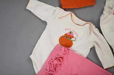 Mixed Lot of Soft New Newborn Baby Girl Legging Tops Onesies Hat Pink 0-6 MNT