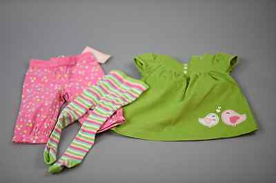 Mixed Lot Baby Girl Toddler Newborn Dress Tights Pants Pink Outfit Set 6-12 MNT