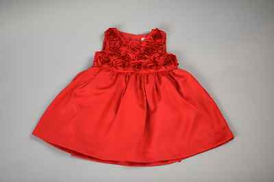 Formal Holiday Dress Set Baby Girl Beautiful Red Diaper Cover Top Dressy 6 MNTS