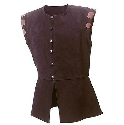 Heavy Suede Hunting Jerkin / Jacket Perfect for Reenactment Stage Costume & LARP