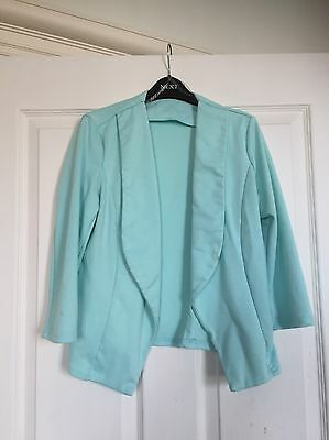 Smart Girls Mint Green Blazer Jacket By New Look 915 Age 12-13 Exc. Condition