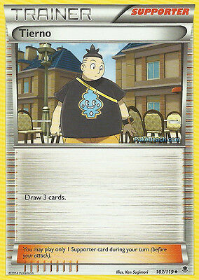 Tierno 107/119 - Xy Phantom Forces Pokemon Trainer Card - In Stock Now!
