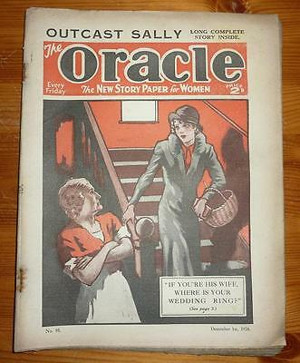 THE ORACLE No 95 1ST DEC 1934 OUTCAST SALLY