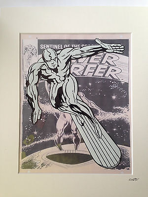 The Silver Surfer - Marvel Comics - Hand Drawn & Hand Painted Cel