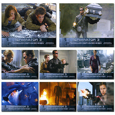 Terminator 3 Complete Set of 8 German Lobby Cards  Arnold Schwarzenegger