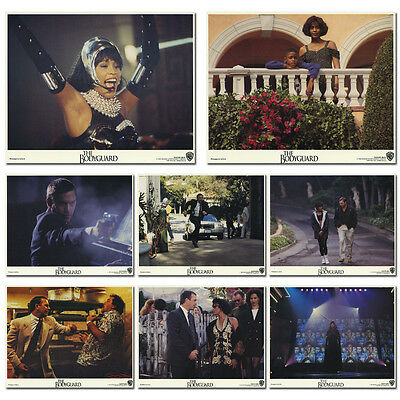 The Bodyguard Complete Set of 8 US Lobby Cards Whitney Houstonm Kevin Costner
