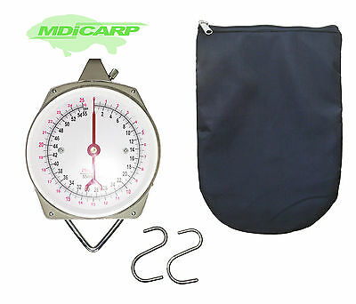 MDI Carp 55lb Specimen Dial Scales with Padded Zipped Scales Pouch/Case