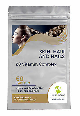 Skin Hair and Nails Vitamin Complex Vitarenew Supplement 30/60/90/120/180 Tabls