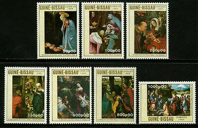Guinea-Bissau #865-71 Mint Never Hinged Complete Set - 1989 Christmas Paintings