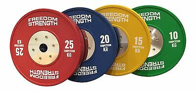 Freedomstrength® Competition Rubber Bumper Crossfit Weightlifting Plates x 2