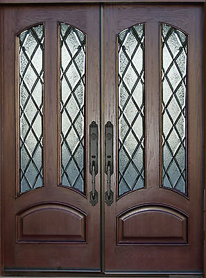 """HDC Front Exterior Double Entry Door AR02B 30""""X80""""X2 Right Hand Swing In"""