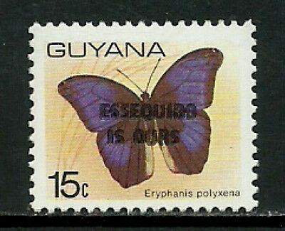 Guyana #391 Mint Never Hinged Stamp - Butterfly Overprint