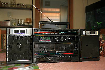 Realistic Modulaire 850 14-770 Boombox AM/FM Radio Line In (Tape Decks Faulty)