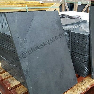 Black Slate Paving Slabs Garden Patio Slabs Tiles 5m2 60x40cm - FREE SAMPLE