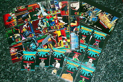 1995 the adventures of batman & robin trading card set with 12 pop up cards