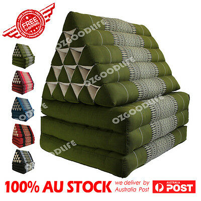 Jumbo SIZE 3-FOLDS Green Thai Triangle Pillow Mattress Cushion DayBed