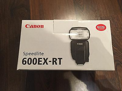 canon speedlite 600ex-rt flash BOX packaging and printed manual