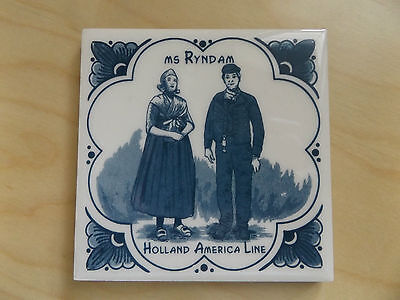 Ms Ryndam Coaster Tile Collectible Holland America Line
