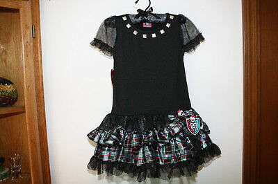Monster High Frankie Stein Costume Dress Up Petti Dress Pretend Play Nwt