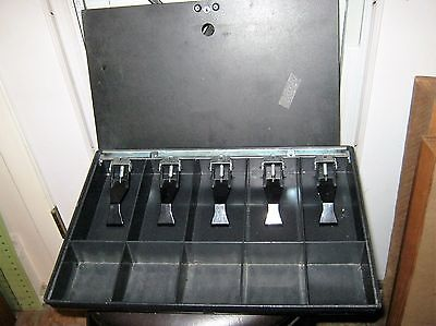 Money Tray and Locking Cover. Cash Register Till Drawer with Lock Black Metal
