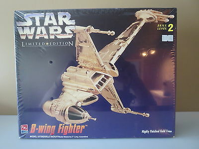 Star Wars B Wing Fighter Limited Edition Amt/ertl Plated Gold Finish