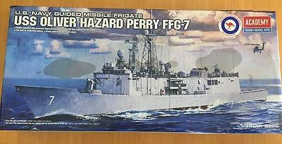 New ACADEMY USS Oliver Hazard Perry FFG-7 Model Kit 1/350th scale Aust decals