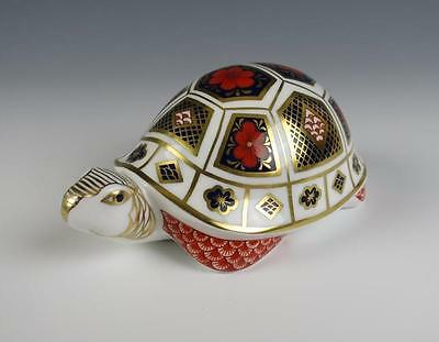 Royal Crown Derby TORTOISE Imari Paperweight 1st Quality Porcelain Turtle Gold