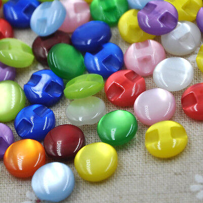 New 50/100pcs Cat's Eye button craft/sewing/baby lot mix PT82