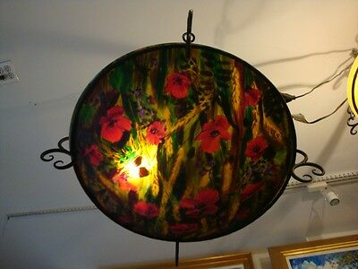 Large Original European Reverse Paint Floral Chandelier Andre $12000