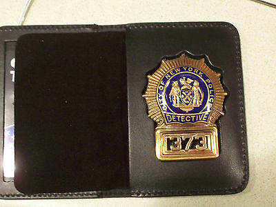 NYPD-Style-Detective Cut-Out Badge Shield & ID Book Wallet (Badge Not Included)