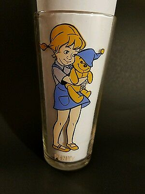 Vintage Pepsi The Rescuers Penny 1977 Collectors Glass Walt Disney Glass Cup
