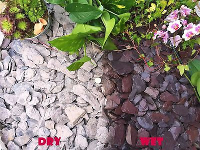 1-30kg 40mm Plum Slate Gravel Chippings Pathway Deter Weed Plants Garden Borders