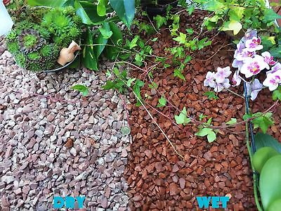 1-30kg Red Granite Gravel Chippings Contemporary Style Pathway Deter Weed Plants