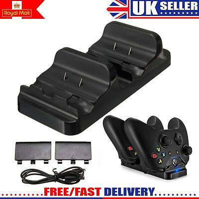 Dual USB Charger Dock +2 Rechargeable Battery For Xbox One Wireless Controller