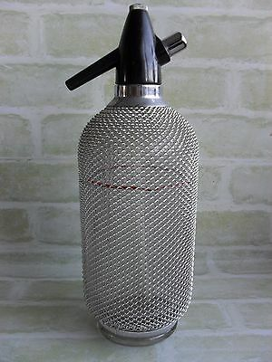 Vintage Collectable Silver Mesh Soda Syphon - Made In Czechoslovakia