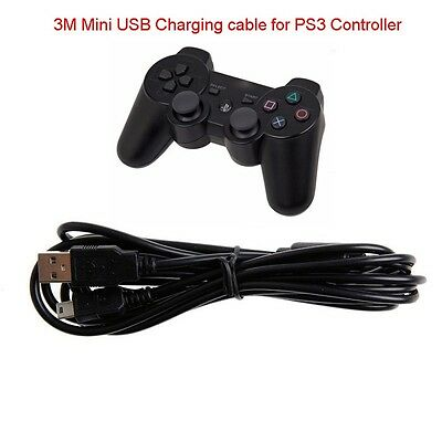 10ft 3M Multi Controller USB Charging Charger Cable Cord For Playstation 3 PS3