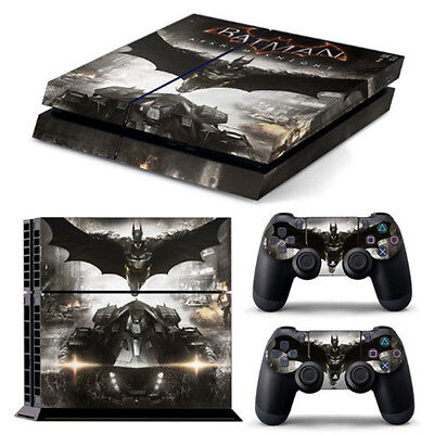 Batman Skin Sticker Cover For PS4 Playstation 4 Console Decal Set Vinyl NEW