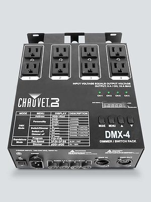 Chauvet DMX-4 Dimmer/Switch Pack 4-Channel LED Lighting