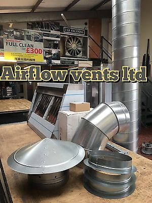 Commercial Kitchen Canopy/Hood 4FT + complete extraction kit