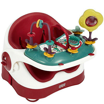 Mamas and Papas Baby Bud Booster with Activity Tray in Red