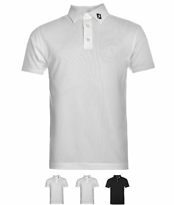 MODA Footjoy Solid Polo Uomo Black